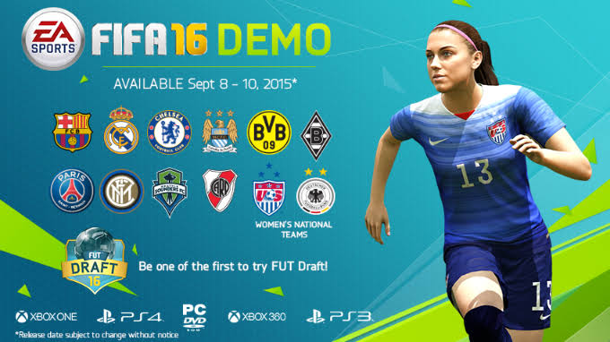 FIFA 16 Demo Set For September 2nd Release With US Women's Championship Team